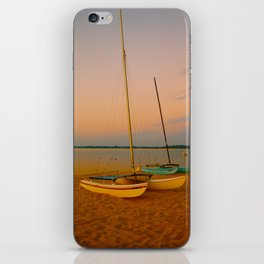Two Boats at Sunset iPhone Skin