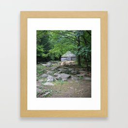 A Smoky Mountain Barn in the Woods Framed Art Print