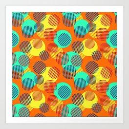 Geometric Orange Circles Art Print