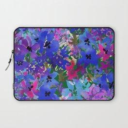 Cool Blue Summer Garden Laptop Sleeve