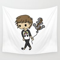 louis tomlinson Wall Tapestries featuring Anchored Louis by clevernessofyou