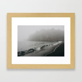 The Black Beach, North Shore Minnesota   Nature and Landscape Photography Framed Art Print
