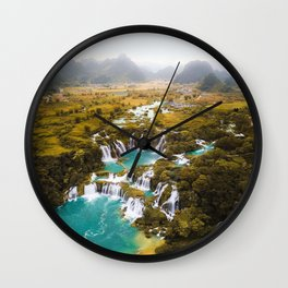 China's Waterfalls Wall Clock