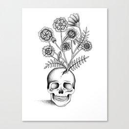 Skull Bouquet Canvas Print