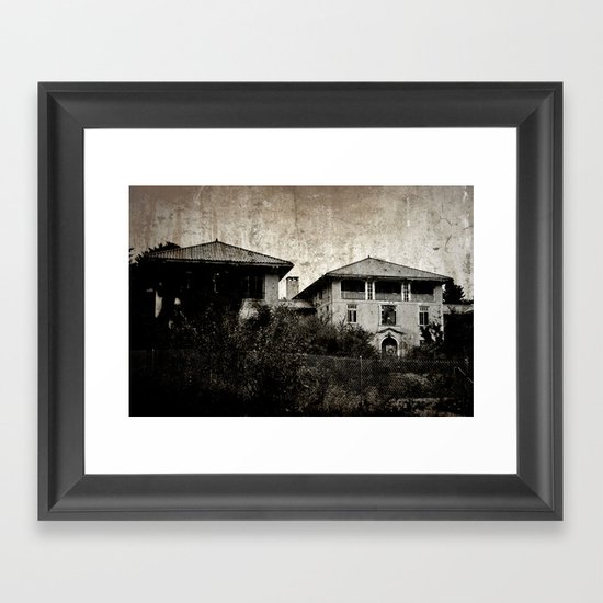 Plymouth County Hospital Front facade Framed Art Print