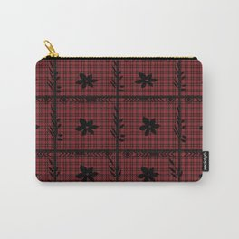 flower on flannel pattern Carry-All Pouch