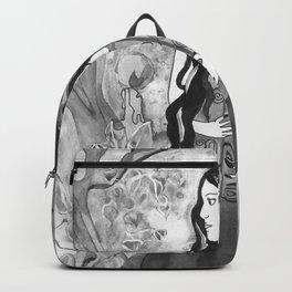 Velvet Touch - Black and White Backpack