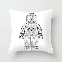 Skull-Brick Throw Pillow