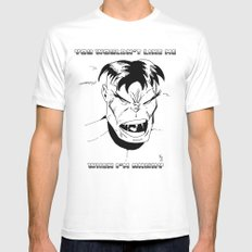 Hulk - You Wouldn't Like Me When I'm Angry - 2012 MEDIUM Mens Fitted Tee White
