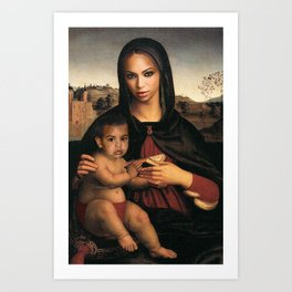 Bey and Blue  Art Print