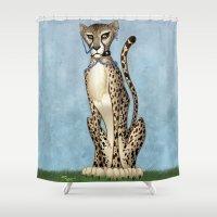 goth Shower Curtains featuring Goth Cheetah by Sinccolor