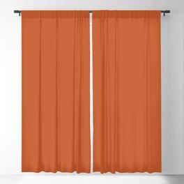 Colors of Autumn Maple Leaf Dark Orange Solid Color Blackout Curtain