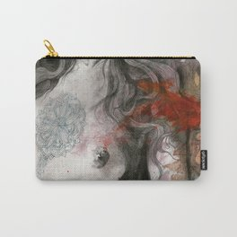 Edit Your Wounds (nude mandala girl erotic drawing) Carry-All Pouch