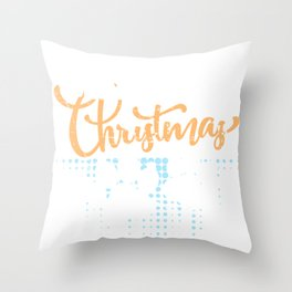 Meowy Christmas Cat Gifts Throw Pillow