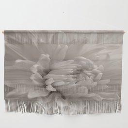Monochrome chrysanthemum close-up Wall Hanging