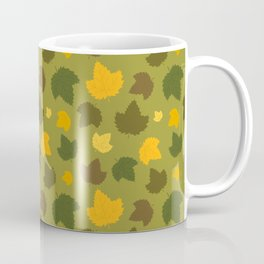 Autumn Hops Leaves on Green Coffee Mug