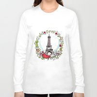 cooking Long Sleeve T-shirts featuring French Cooking by Grace Anderson