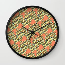 Skeeter Hotdogs Wall Clock
