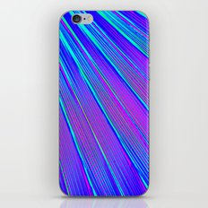 Blue Pink Stripes iPhone Skin