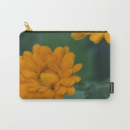 Orange Zinnia after the rain Carry-All Pouch