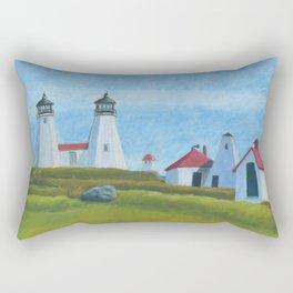 Plymouth Lighthouse Rectangular Pillow
