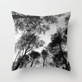 Forest View b/w Throw Pillow