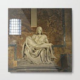 Michelangelo's Pieta in St. Peter's Basilica                                              Metal Print