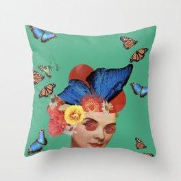 Butterfly Woman (Pollination Rework)  Throw Pillow