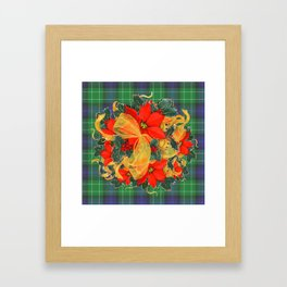 It's A Plaid Plaid Christmas ! Framed Art Print