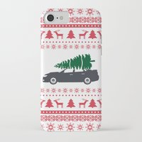 subaru iPhone & iPod Cases featuring Happy Holidays - Subaru Christmas Sweater by E. Phillips - Creative Designer