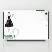 taurus iPad Cases featuring Taurus by Cansu Girgin