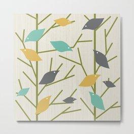 Mid Century Modern Birdsong Metal Print