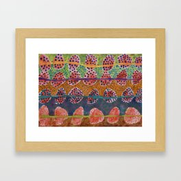 Red Round And Dotted Forms  Framed Art Print