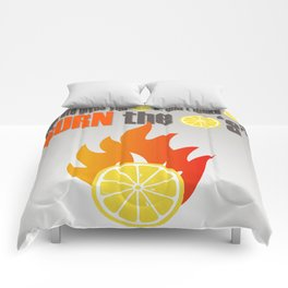 BURN THE LEMONS. Comforters