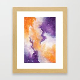 Spooky Galaxy Framed Art Print