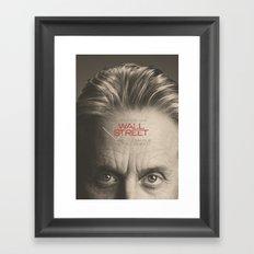 Wall Street New Movie Poster, Gordon Gekko, Oliver Stone, film Framed Art Print