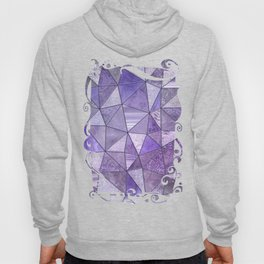 Purple Lilac Glamour Shiny Stained Glass Hoody