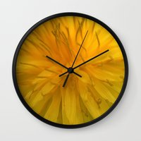tooth Wall Clocks featuring Lion's Tooth by Stevyn Llewellyn