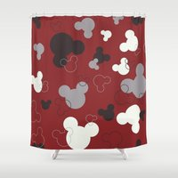 mickey Shower Curtains featuring MICKEY MOUSE by Acus