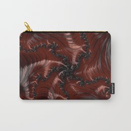 Red Black Funky Wild Cool Masculine Stylish Abstract Fractal Art Design Carry-All Pouch