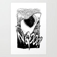 Shark bite! Art Print