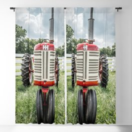 Vintage IH Farmall 450 Front Red Tractor Blackout Curtain