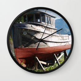 Beached Boat Wall Clock