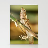 eddie vedder Stationery Cards featuring Eddie Lizard by Adam Latham Photography