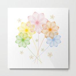 Blooming Flowers Metal Print