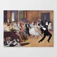 degas Canvas Prints featuring Degas Steps it Up by Hayley Q. Drewyor