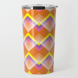Yellow & Purple Chevron Travel Mug