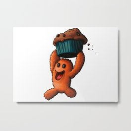 Marvin Muffin Monster Metal Print