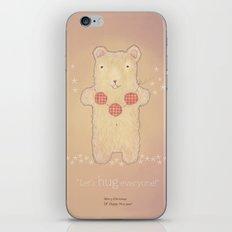 Christmas creatures- The Loving Bear iPhone & iPod Skin