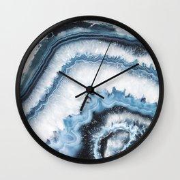 Cold Shadows Agate Wall Clock
